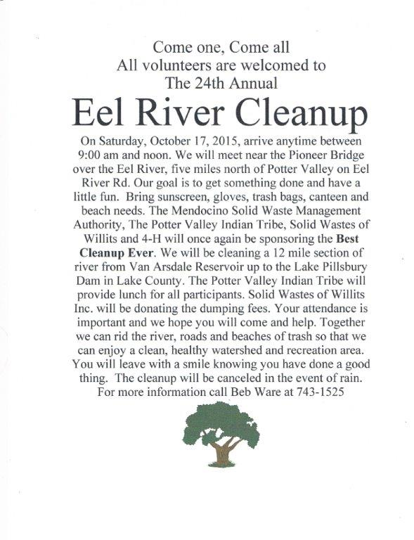 Eel River Cleanup Info